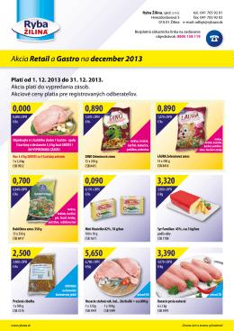 Akcia Retaila Gastrona december 2013