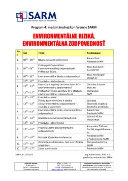 environmentálne riziká, environmentálna zodpovednosť
