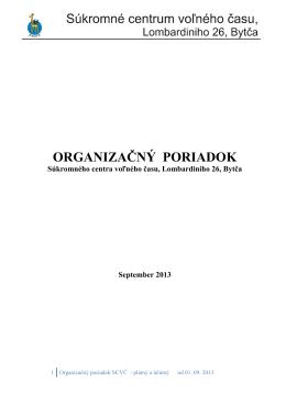 02 Organizačný poriadok 2013