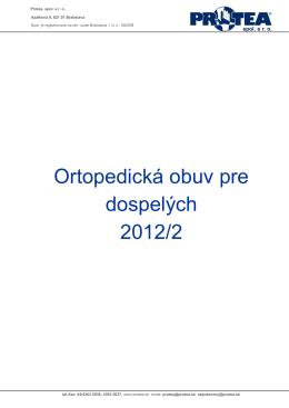 Ortopedická obuv pre dospelých 2012/2