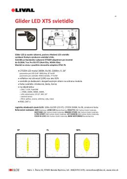 Glider LED XTS svietidlo