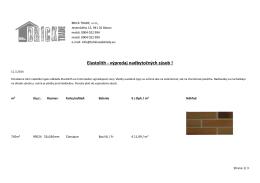Elastolith - výpredaj nadbytočných zásob !