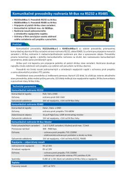 Komunikačné prevodníky rozhrania M