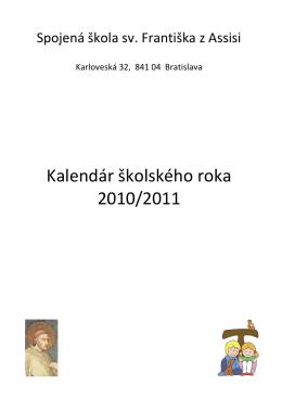 Kalendár školského roka 2010/2011