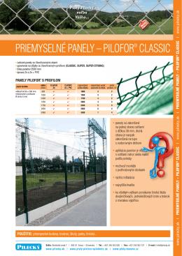 Priemyselné zvárané panely PILOFOR® CLASSIC