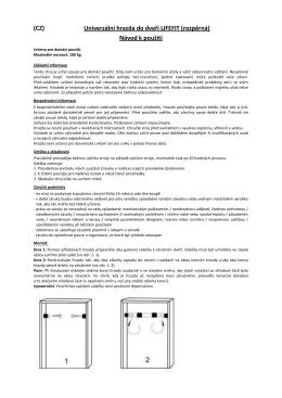 (CZ) Univerzální hrazda do dveří LIFEFIT (rozpěrná) Návod k použití