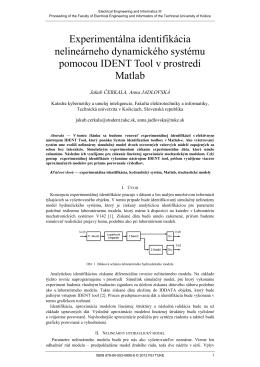 Experimentálna identifikácia nelineárneho dynamického