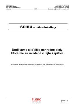 SEIBU - náhradné diely