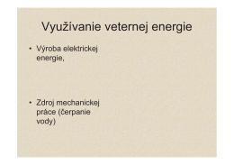 Využívanie veternej energie - ener