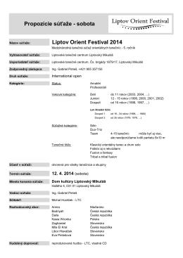Propozície LOF 2014.pdf - Liptov Orient Festival