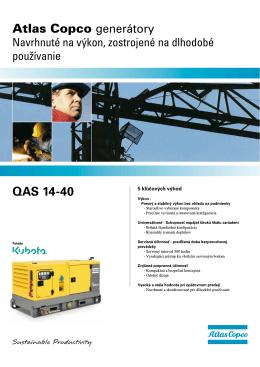 QAS 14-40 Atlas Copco generátory