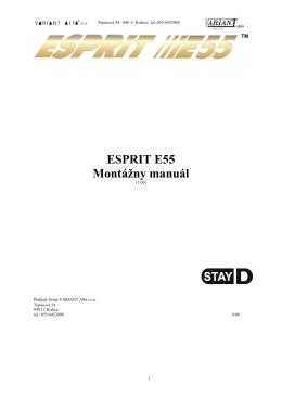 ESPRIT E55 Montážny manuál