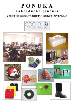 Katalog - coop produkt slovensko