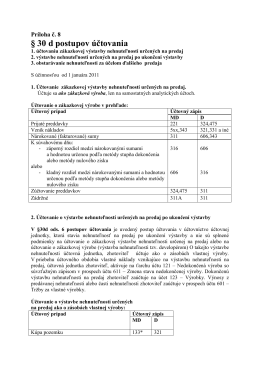 § 30 d postupov účtovania