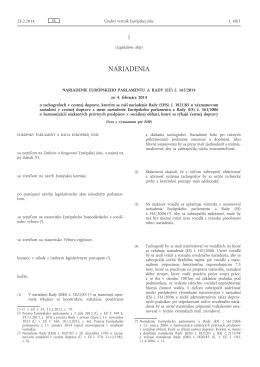 Nariadenie Európskeho parlamentu a Rady (EÚ) č. 165