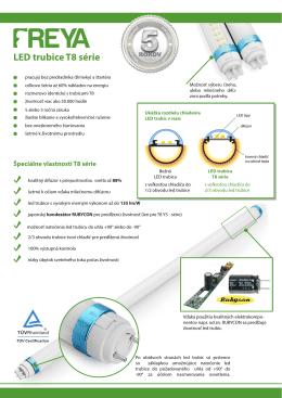 LED trubice T8 série