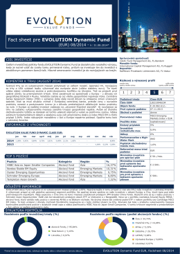 Fact sheet pre EVOLUTION Dynamic Fund