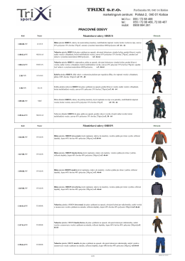 Ilustračný katalóg OPP - odevy v PDF