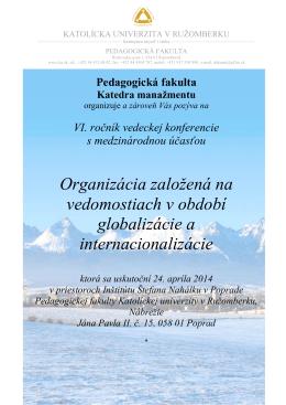 Pozvánka - Konferencie - Katolícka univerzita v Ružomberku