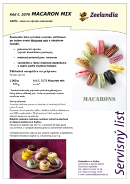 Macaron mix