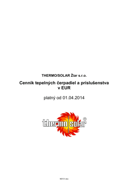 Cenník 2007 - THERMO|SOLAR Žiar sro