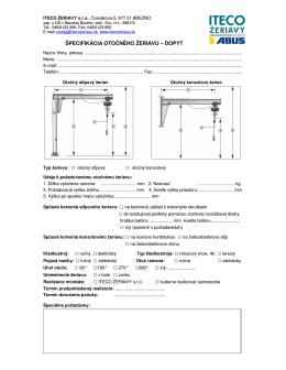 stiahni pdf dopyt - ITECO Žeriavy sro Brezno