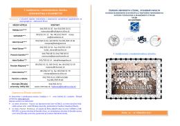 7. konferencia s medzinárodnou účasťou 7. konferencia s
