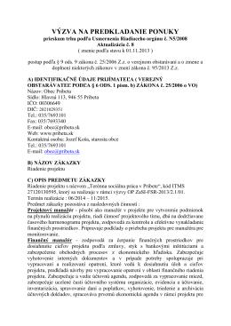 Riadenie projektu Terénna sociálna práca v Pribete