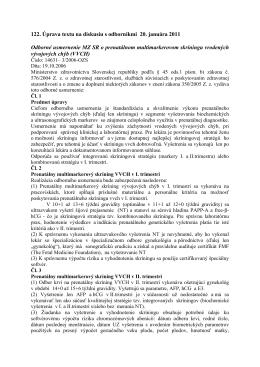 122. Úprava textu na diskusiu s odborníkmi 20. januára 2011