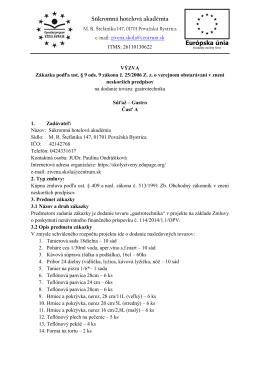 Súkromná hotelová akadémia - Školy Živeny Považská Bystrica