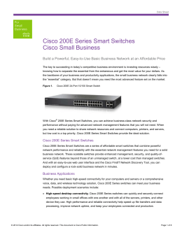 Cisco 200E Series Smart Switches