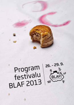 Program festivalu BLAF 2013