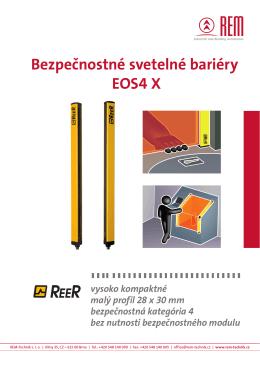 Bezpečnostné svetelné bariéry EOS4 X
