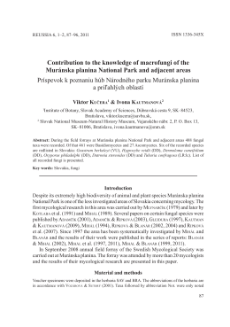 Contribution to the knowledge of macrofungi of the Muránska
