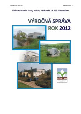 Výročná správa 2012 - Hydromeliorácie, š.p.