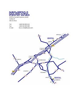 KOSTAL Kontakt Systeme GmbH Cenkov 8 262 23 Jince Tel: +420
