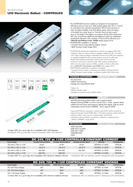 LED Electronic Ballast - CONTROLED DC 24V, 72V or 110V