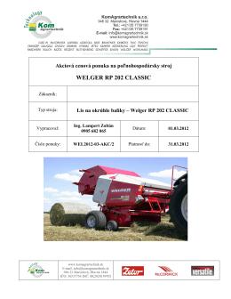 WELGER RP 202 CLASSIC