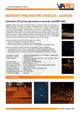 Výstražné LED prvky zapustené vo vozovke viaLEDFLASH