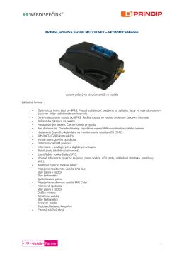 Mobilná jednotka variant MJ2732 VEP – VETRONICS Hidden