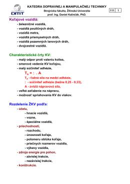 Koľajové vozidlá - KDMT