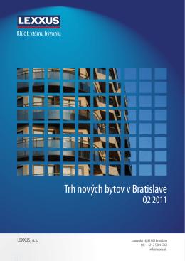 Trh nových bytov v Bratislave