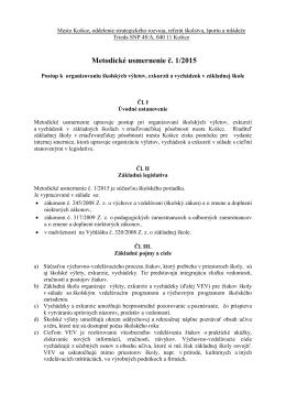Metodické usmernenie č. 1/2015 - Základná škola Bruselská 18