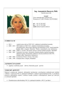 Ing. Annamária Duszová, PhD.