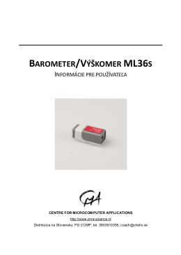 BAROMETER/VÝŠKOMER ML36S