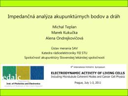 Impedančná analýza akupunktúrnych bodov a dráh