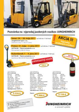AKCIA !!! - jazdenevoziky.sk