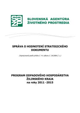 Text správy o hodnotení