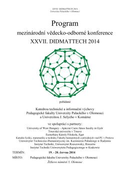 zaměření konference - Katedra technické a informační výchovy