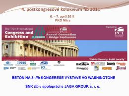 4. postkongresové kolokvium fib 2011